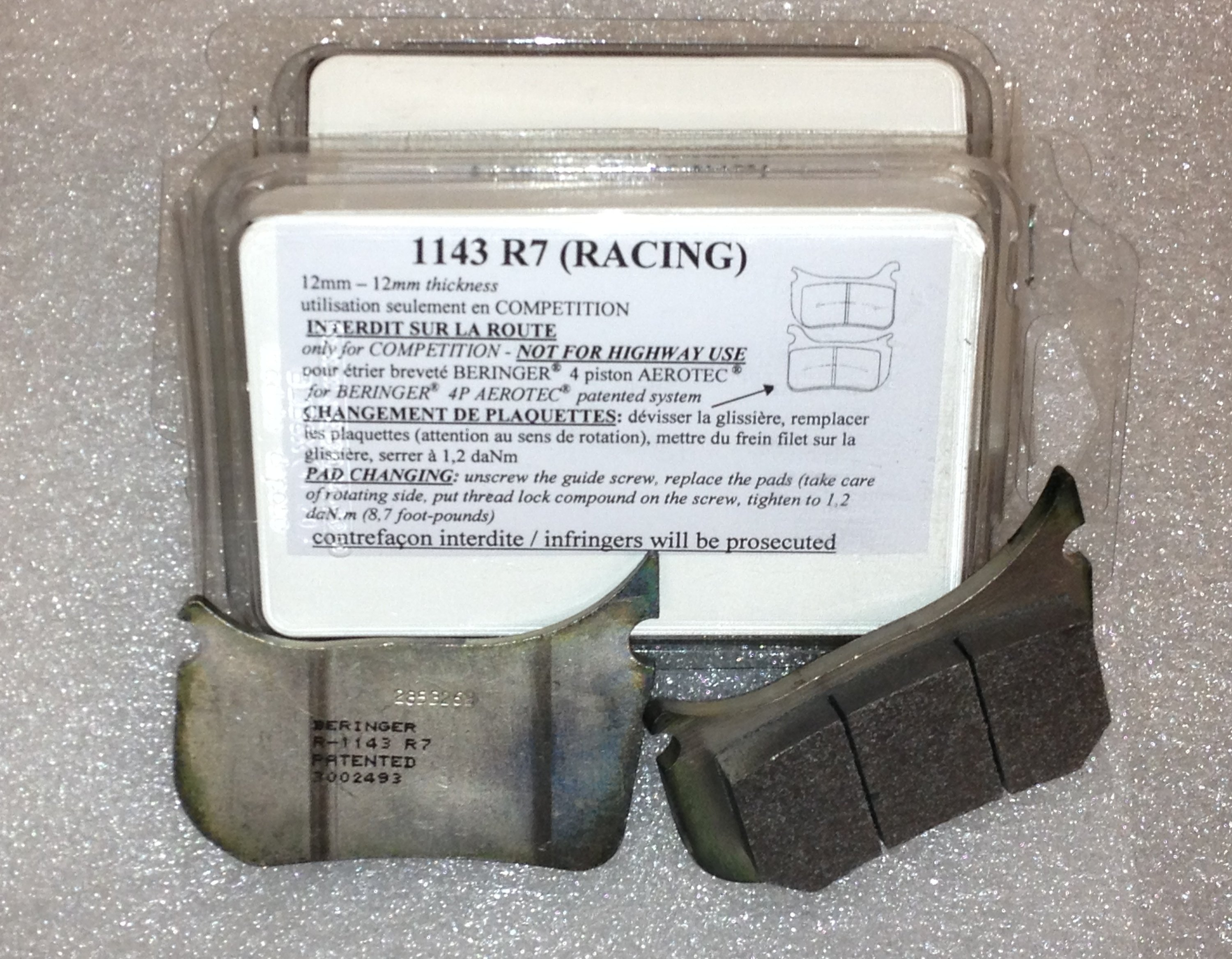 Radial 4 Piston Endurance Brake Pads